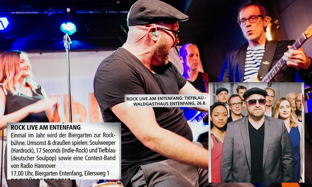 """Ankündigung """"Rock live am Entenfang"""""""